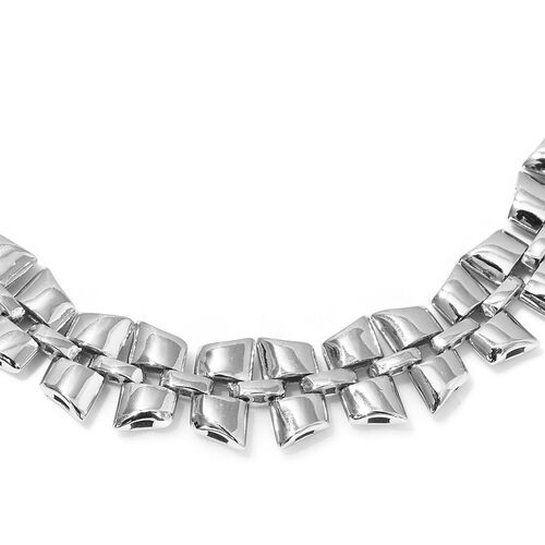 RACHEL GALLEY- Link Collection- Rhodium Overlay Sterling Silver Necklace (Size 20) Silver Wt 45 Grams