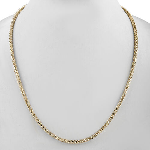 Royal Bali Collection - 9K Yellow Gold Spiga Necklace (Size 20), Gold wt 8.67 Gms