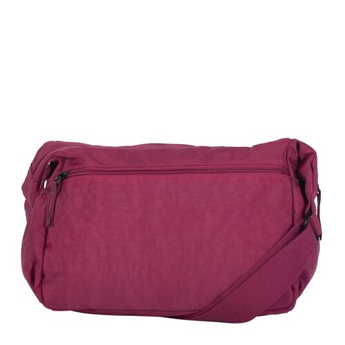 Artsac - Plum Colour Medium Size Crossbody Bag with Zip Top