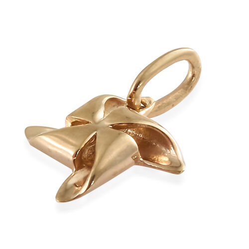 14K Gold Overlay Sterling Silver Pinwheel Pendant