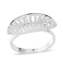 Sterling Silver Fan Ring, Silver wt 4.18 Gms.