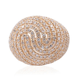 14K Yellow Gold (I2 Single Cut) Diamond (Rnd) Dome Ring 1.000 Ct, Gold wt 7.50 Gms, Number of Diamon