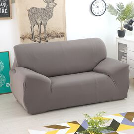 Solid Colour Washable Stretch Sofa Cover (Size 145-185 Cm) - Dark Grey