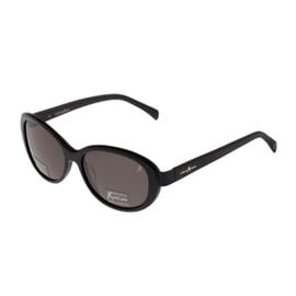GUESS MARCIANO Womens Oval Black Sunglasses with Black Lenses