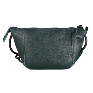 Genuine Leather Middle Size Crossbody Bag - Green