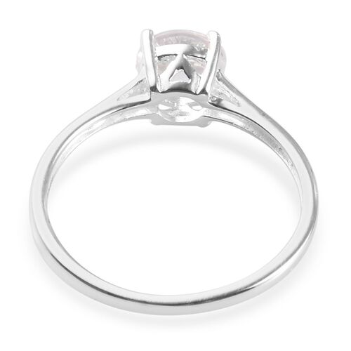 2 Piece Set - Petalite Solitaire Ring and Stud Earrings (with Push Back) in Sterling Silver 2.00 Ct.