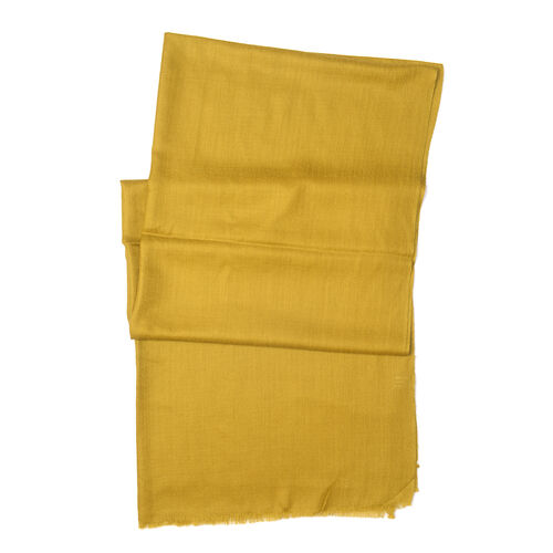 100% Cashmere Wool Mustard Colour Ultra Soft Scarf (Size 200X70 Cm)