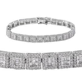 5 Carat Diamond Tennis Bracelet in 14K White Gold 23 Grams 7.5 Inch SGL Certified I1 I2 GH