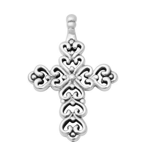 Cross Pendant in Thai Sterling Silver 9.36 Grams