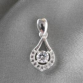 J Francis Sterling Silver Pendant Made with SWAROVSKI ZIRCONIA 0.90 Ct.