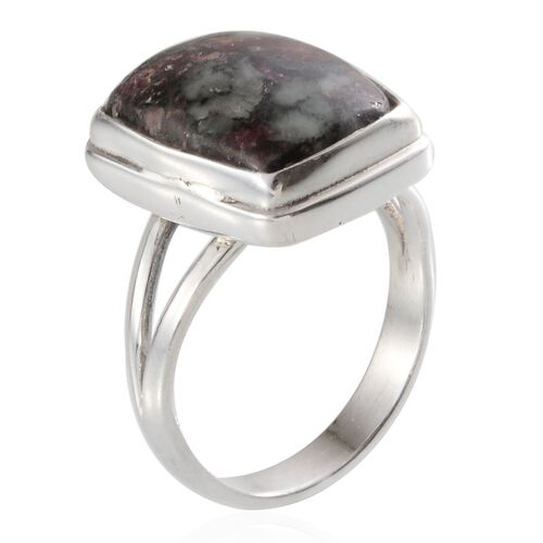 Eudialyte (Cush) Solitaire Ring in Sterling Silver 7.900 Ct.