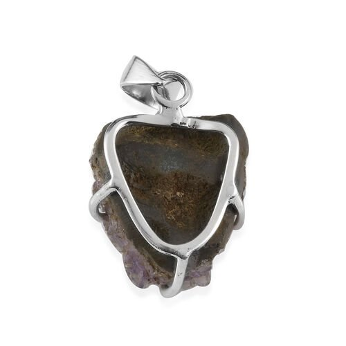 (Option 1) Amethyst Geode Pendant in Sterling Silver 54.13 Ct.