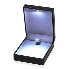 Solid Black Colour Earrings Box with LED Light (Size 9x2.5x7 Cm)