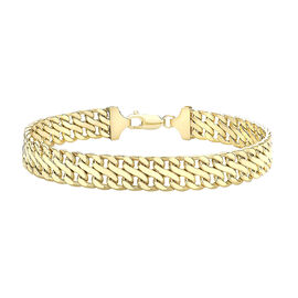 Hatton Garden Close Out Deal 9K Yellow Gold Double Curb Bracelet (Size 7.5), Gold wt. 7.60 Gms