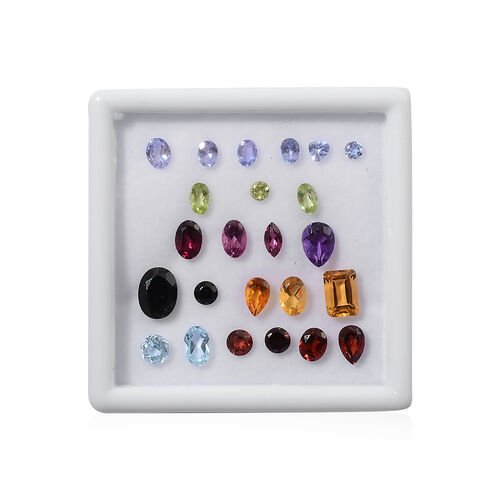 Collectors Edition - Multi GemStones Mix Faceted 10.00 Cts (Tanzanite 1.00 Ct Guaranteed wt)