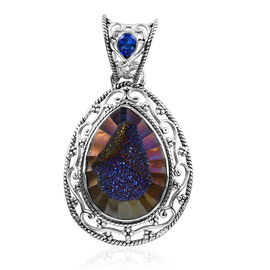 Sajen Silver Agate and Doublet Quartz Pendant in Sterling Silver 24.08 Ct.