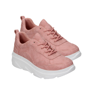 Pink Trainers with Lace Detail