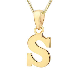 9K Yellow Gold Initial S Pendant