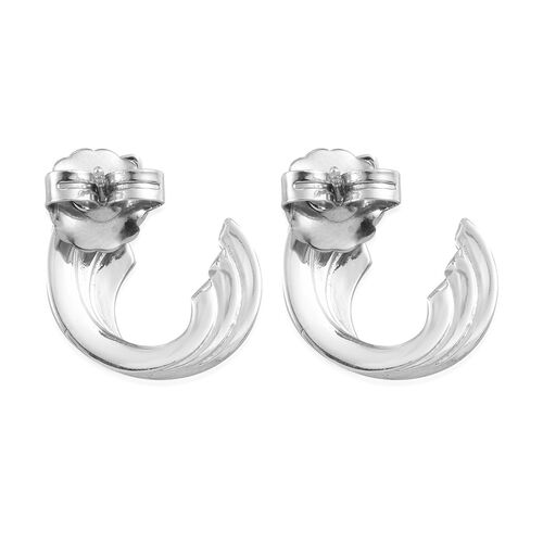 RACHEL GALLEY Platinum Overlay Sterling Silver Earrings (with Push Back)