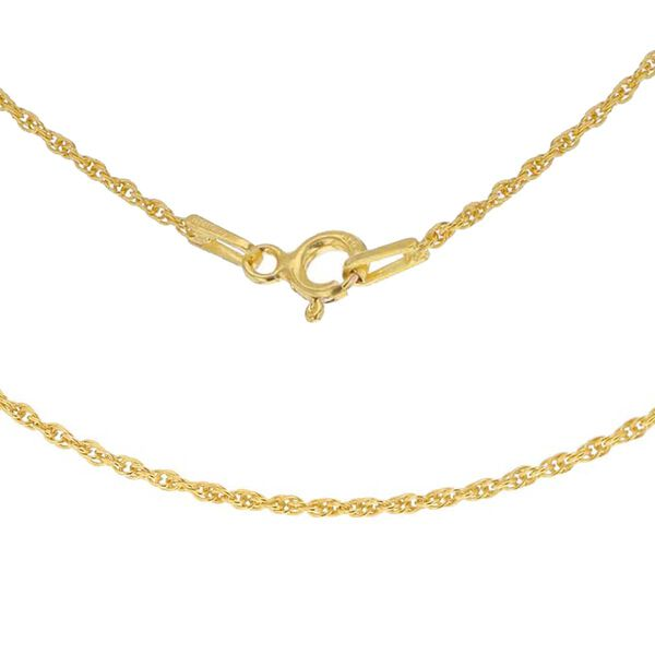 14K Gold Overlay Sterling Silver Prince of Wales Chain (Size 18)