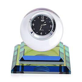 Multi Colour Crystal Table Clock (Size 7.5x8 Cm)