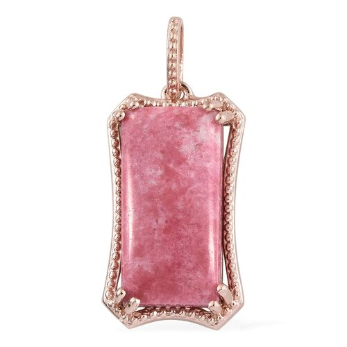 Pink Zoisite (Bgt) Pendant in Rose Gold Overlay Sterling Silver 13.750 Ct.