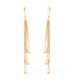 LucyQ Multi Drip Earrings (with Push Back) in Yellow Gold Overlay Sterling Silver