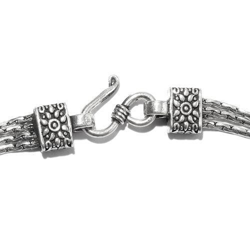 Designer Inspired- Vicenza Collection Sterling Silver Bracelet (Size 7.5), Silver wt. 13.01 Gms.