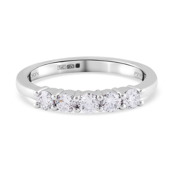RHAPSODY 0.50 Ct Diamond Band Ring in 950 Platinum 4.03 Grams IGI Certified VS EF