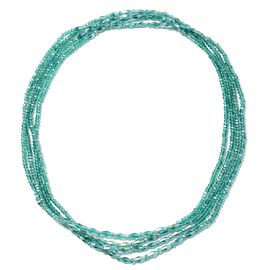 Emerald Colour Beads Multi Stand Necklace Size 90 Inch