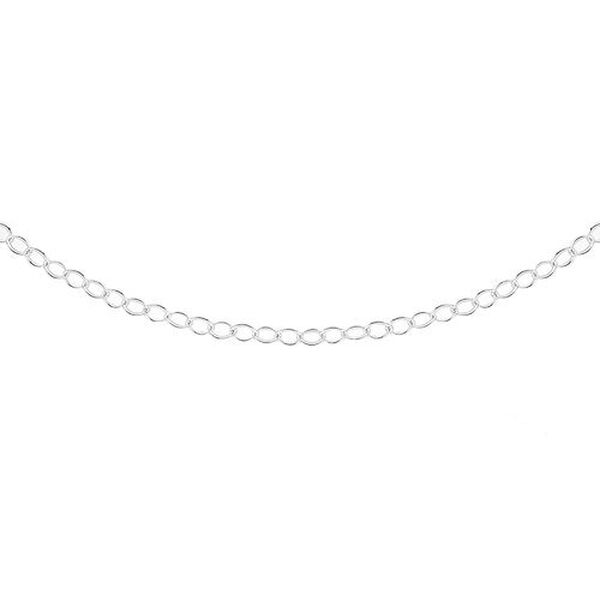 Vicenza Collection Belcher Chain in Sterling Silver 18 Inch