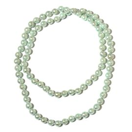 Green Shell Faceted Pearl Necklace (Size 30)
