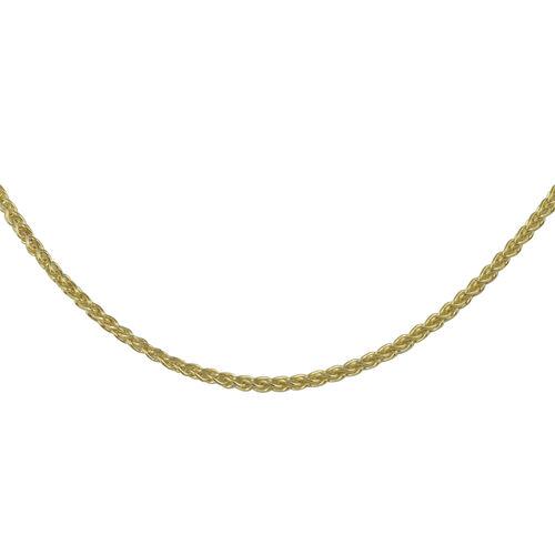 Diamond Cut Curb Chain in 9K Yellow Gold 18 Inch