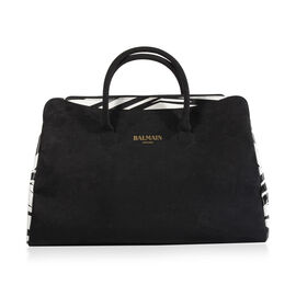 Balmain Generique Weekend Bag (Size 45x18x30 Cm) - Black and White