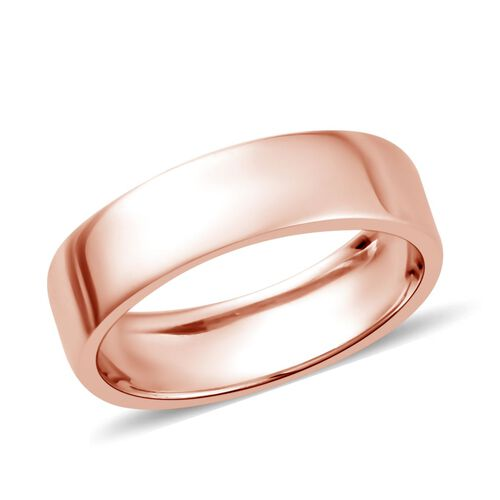 Rose Gold Overlay Sterling Silver Ring, Silver wt. 3.00 Gms