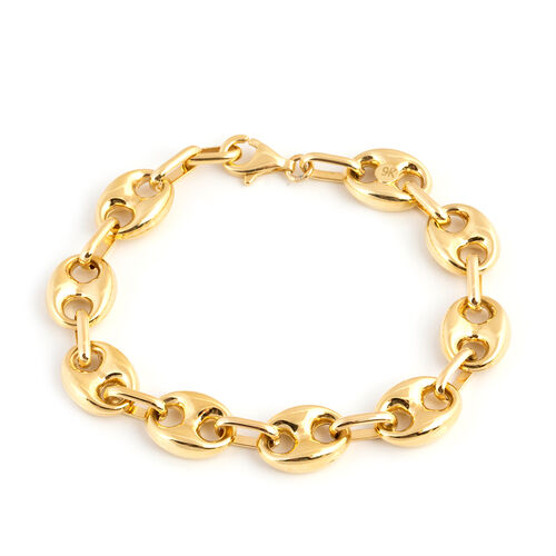 9K Yellow Gold Mariner Bracelet (Size 7.75), Gold wt 10.93 Gms.