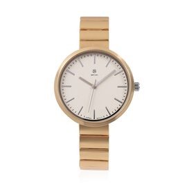 STRADA Japanese Movement Water Resistant Watch with Gold Chain Strap in Stainless Steel