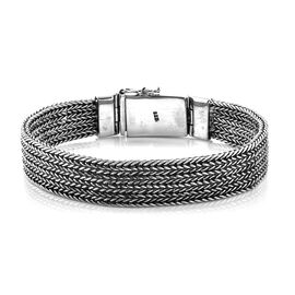 Royal Bali Collection Sterling Silver Tulang Naga Bracelet (Size 8), Silver wt 48.80 Gms