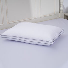 Serenity Night Copper Infused Memory Foam Pillow(55x35x12cm) with Faux Down Cover(50x70cm)- WHITE