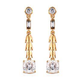 J Francis SWAROVSKI ZIRCONIA Drop Earrings in Gold Plated Silver