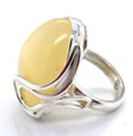 Natural Butterscotch Baltic Amber Ring in Sterling Silver, Silver wt 6.37 Gms