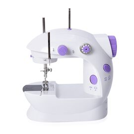 Multifunctional & Portable Mini Double Thread Sewing Machine - (Includes: 1 Needle, 1 Needle Threade