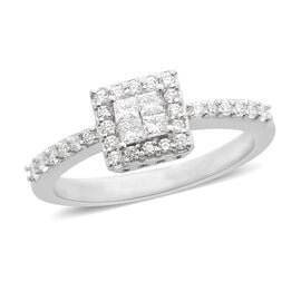 RHAPSODY 950 Platinum IGI Certified Diamond (Rnd) (VS /E-F) Ring 0.500 Ct.