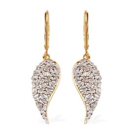 Diamond 14K Gold Overlay Sterling Silver Earring  0.500  Ct.