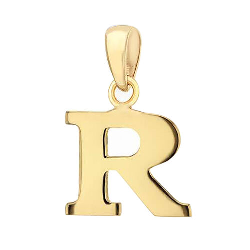 9K Yellow Gold Initial R Pendant