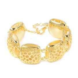 RACHEL GALLEY Memento Diamond Cut Bracelet in Gold Plated Sterling Silver 40.79 Grams