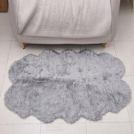 Premium Faux Sheep Skin Rug (Size 180x100 Cm) - Light Grey