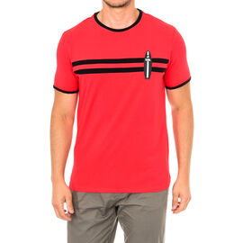Karl Langerfeld Mens Surf T-Shirt Short Sleeve in Red Colour