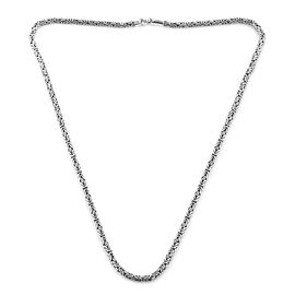 Royal Bali Collection Sterling Silver Borobudur Chain Necklace (Size 26), Silver wt 64.20 Gms