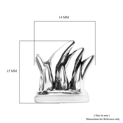 Charmes De Memoire Platinum Overlay Sterling Silver Sydney Opera House Charm, Silver wt 3.85 Gms